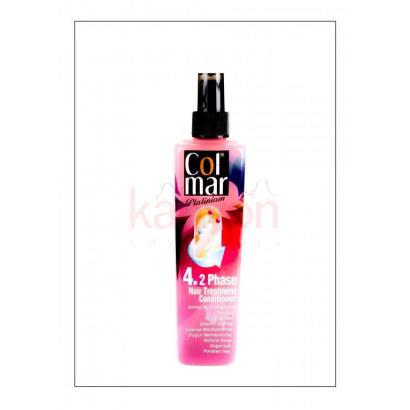 Durulama ve kurulama gerektirmez COL-MAR PLATINIUM LIQUID 2 PHASE CONDITIONER 400 ml.